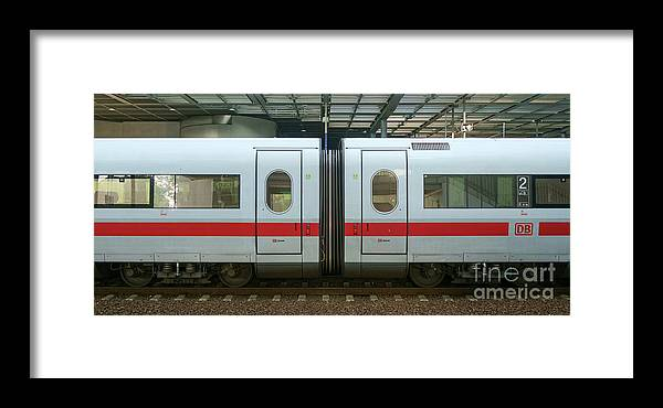 Bahn Framed Print featuring the photograph Ice Train At Berlin Station by Jannis Werner