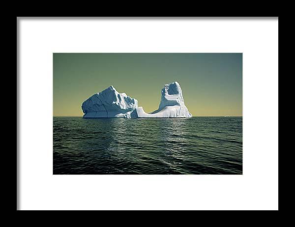 00342146 Framed Print featuring the photograph Iceberg in the Labrador Sea by Yva Momatiuk John Eastcott