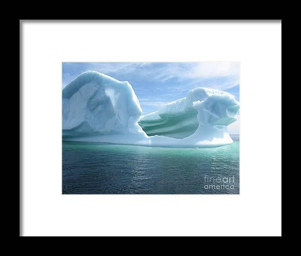 Photograph Iceberg Ocean Summer Newfoundland Framed Print featuring the photograph Iceberg by Seon-Jeong Kim
