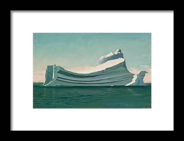 William Bradford Framed Print featuring the painting Iceberg by William Bradford