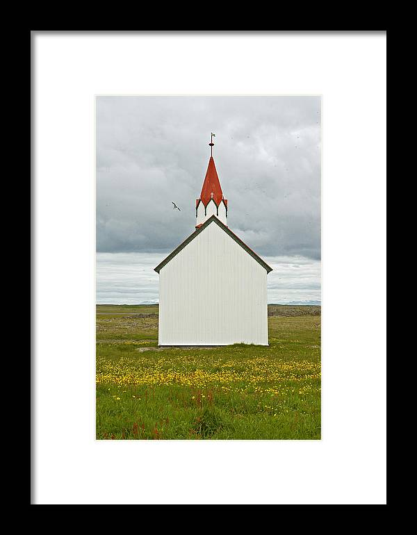 Iceland Framed Print featuring the photograph Icelandic Church by Elisa Locci