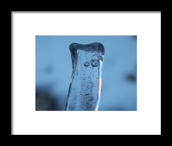 Icicle Framed Print featuring the photograph Icicle Reflections by Kristina Lammers