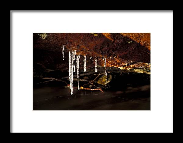 Ice Framed Print featuring the photograph Icicles by Richard Steinberger