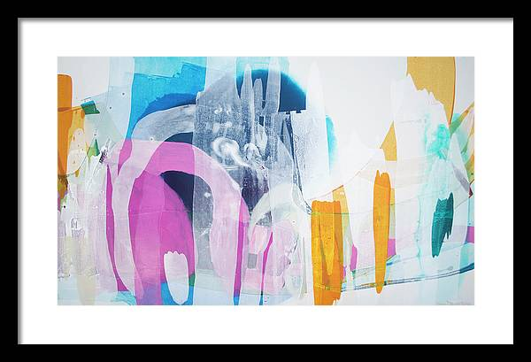Abstract Framed Print featuring the painting Icing On The Cake by Claire Desjardins