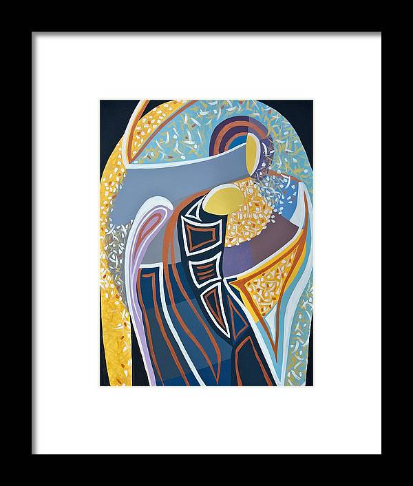 Icon Framed Print featuring the painting Icon by Andrada Ionescu