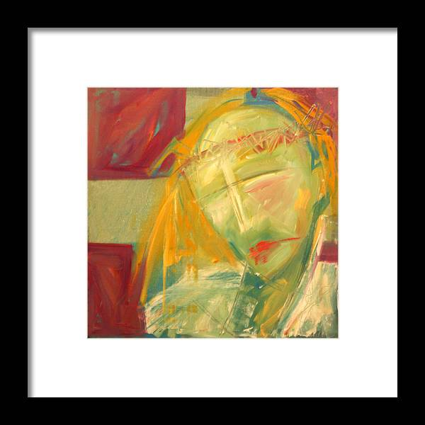 Christ Framed Print featuring the greeting card Icon Number Ten by Tim Nyberg