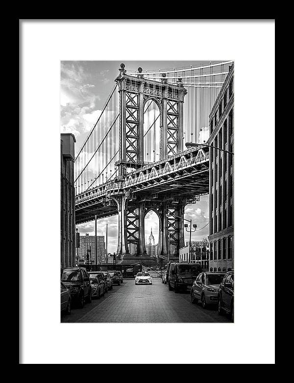 New York City Framed Print featuring the photograph Iconic Manhattan BW by Az Jackson