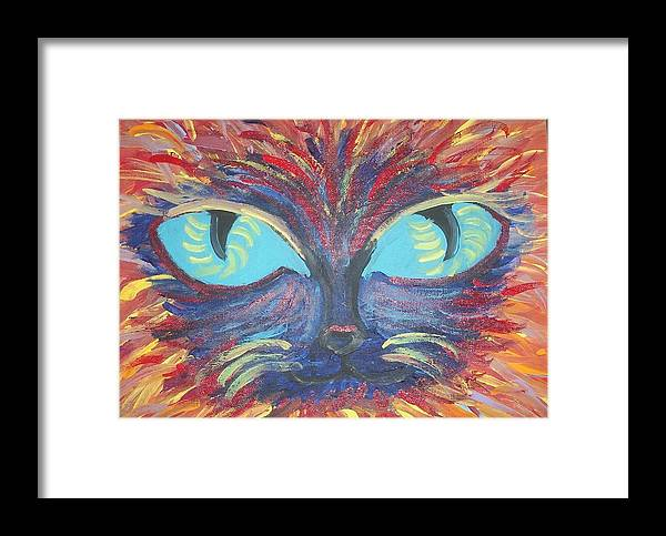 Cats Framed Print featuring the painting ICU by Lindsay St john