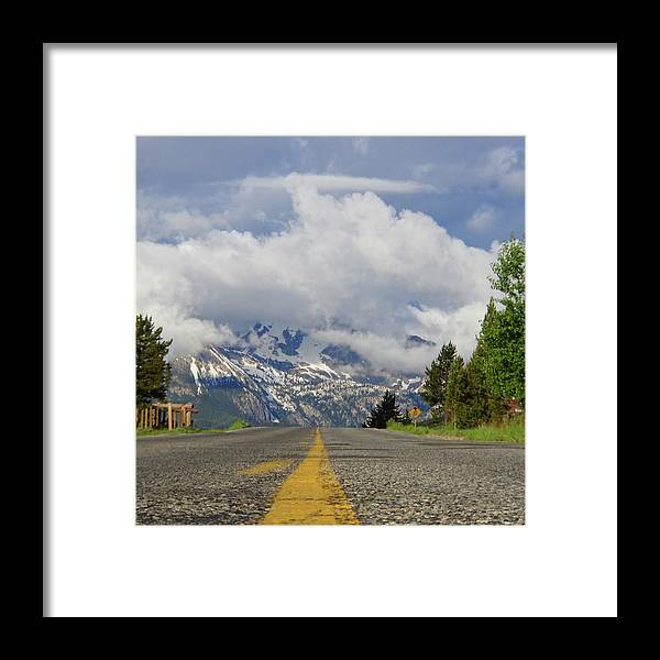 Idaho Framed Print featuring the photograph Follow The Yellow Stripe by Dan Dixon