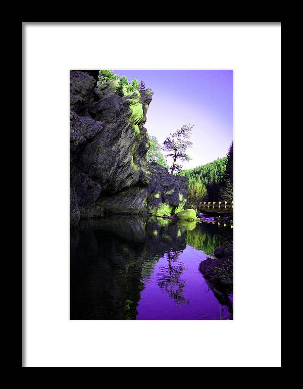 Mountains Framed Print featuring the photograph Ideal Manipulated by Cassandra Wessels