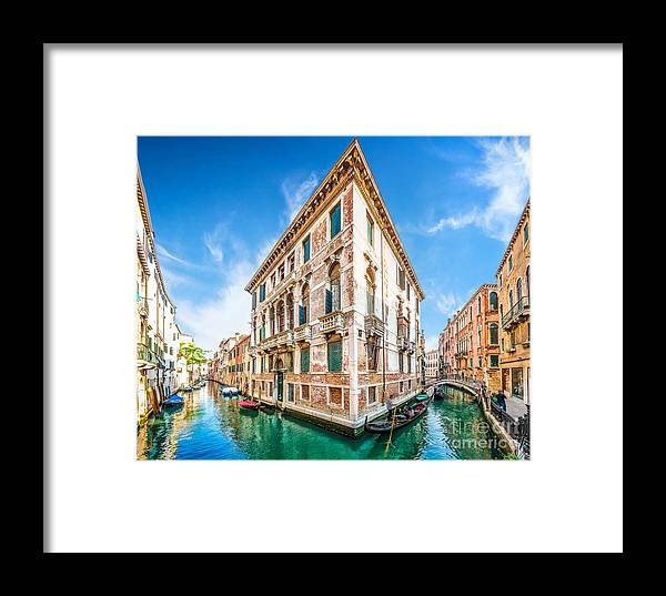 Alley Framed Print featuring the photograph Idyllic Canal In Venice by JR Photography