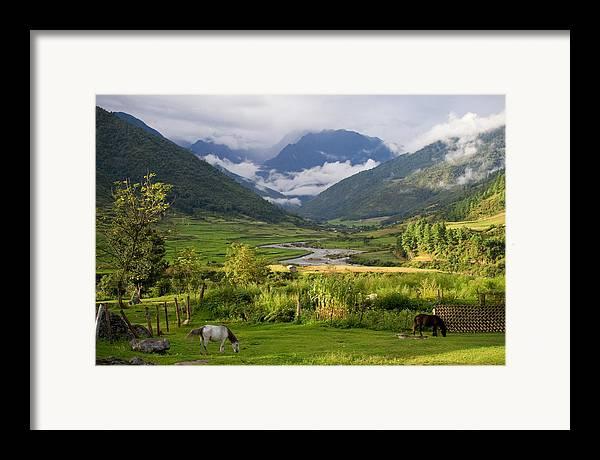 Landscape Framed Print featuring the photograph Idyllic Landscape Arunachal Pradesh by Sam Oppenheim