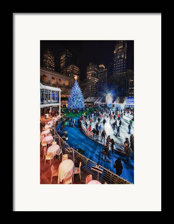 Bryant Park Framed Print featuring the photograph If I Could Make December Stay by Evelina Kremsdorf