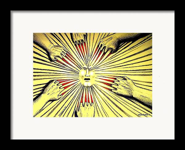 Psychological Defects Framed Print featuring the digital art If Not For Love Will Be By Pain by Paulo Zerbato
