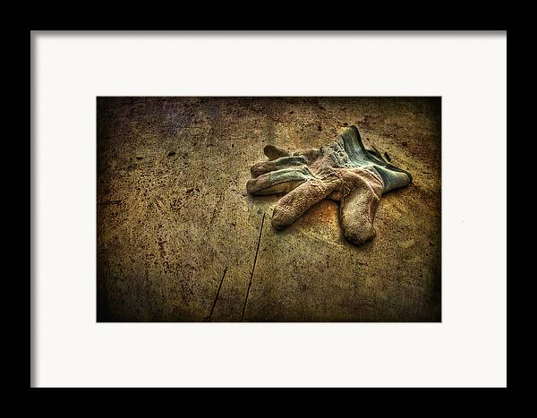 Glove Framed Print featuring the photograph If The Glove Doesn't Fit........ by Evelina Kremsdorf