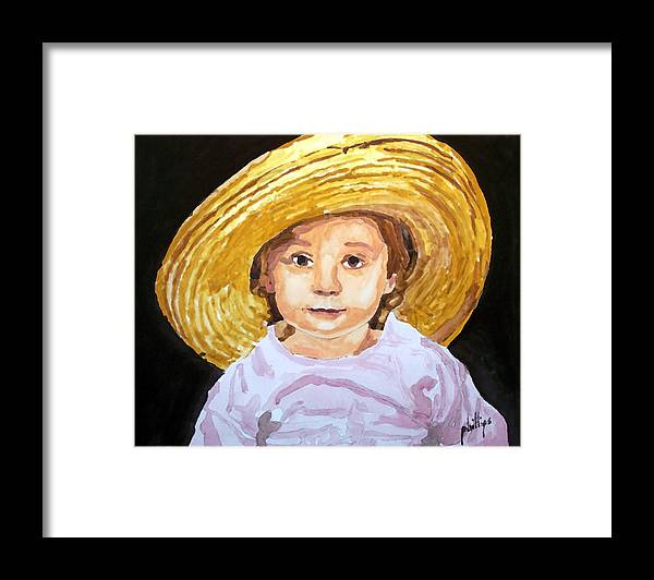 Hat Framed Print featuring the painting If The Hat Fits... by Jim Phillips