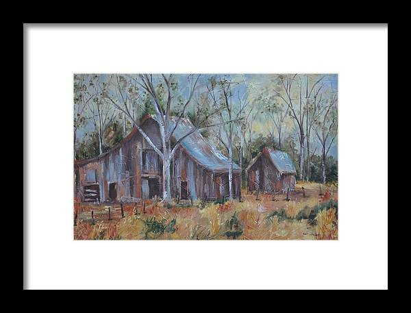 Barns Framed Print featuring the painting If They Could Speak by Ginger Concepcion