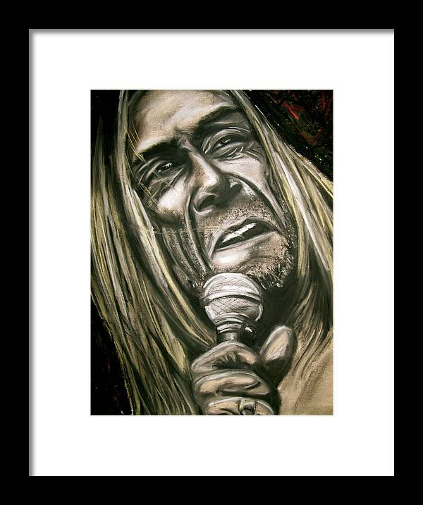 Iggy Framed Print featuring the drawing Iggy Pop by Zach Zwagil