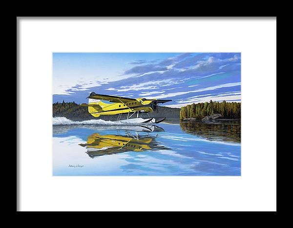 Canada Framed Print featuring the painting Ignace Adventure by Anthony J Padgett