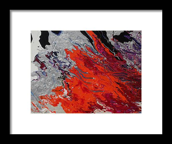 Fusionart Framed Print featuring the painting Ignition by Ralph White