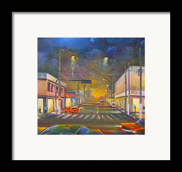 Abstract Framed Print featuring the painting Iguaba Grande by Leomariano artist BRASIL