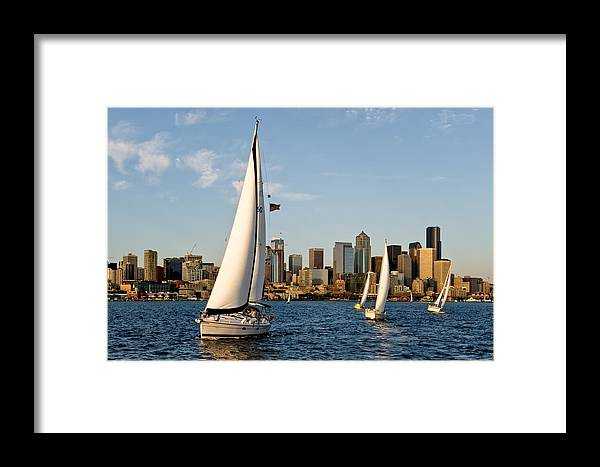 Seattle Framed Print featuring the photograph IIn The Lead by Tom Dowd