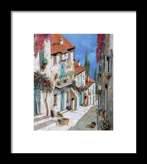 Balcony Framed Print featuring the painting Il Balcone Fiorito by Guido Borelli