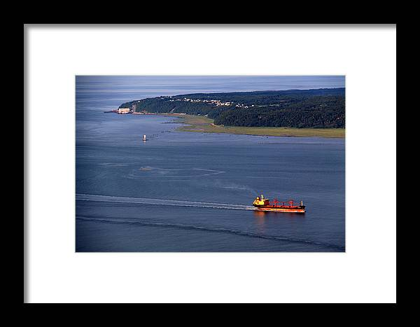 Boat Framed Print featuring the photograph Ile-aux-coudres by Michel Thibault