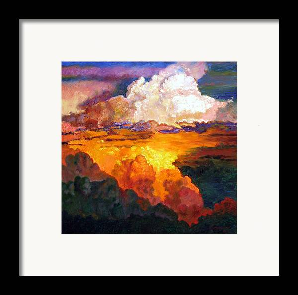 Clouds Framed Print featuring the painting Ill Fly Away O Glory by John Lautermilch