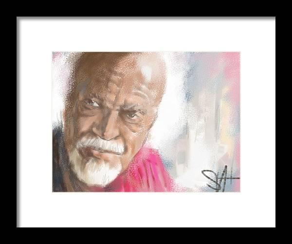"""David Kaparalic """"ili Ili"""" Maui Framed Print featuring the digital art Ili Ili by Scott Waters"""