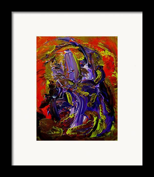 Ill Framed Print featuring the painting Ill Iris by Karen L Christophersen