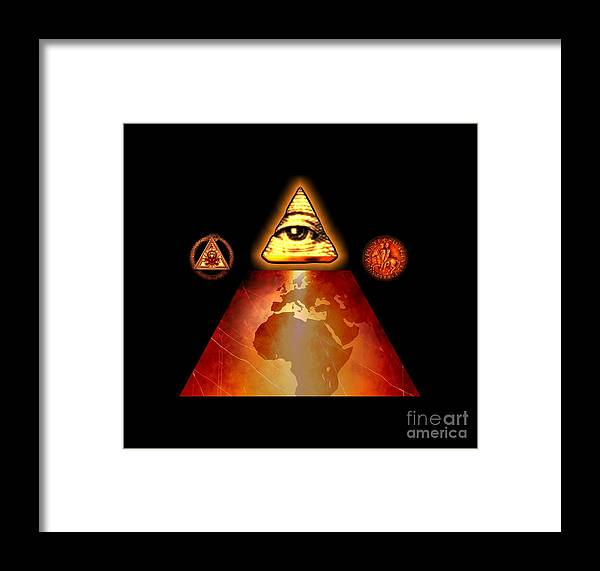 Fantasy Framed Print featuring the painting Illuminati World By Pierre Blanchard by Pierre Blanchard