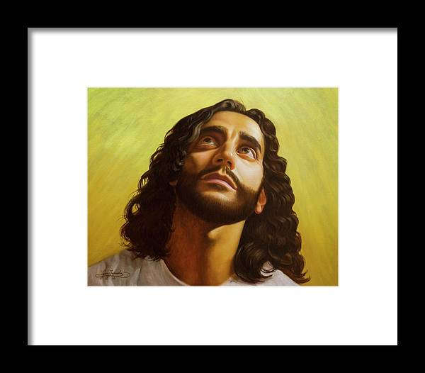 Male Figurative Framed Print featuring the painting Illumination by Gary Hernandez