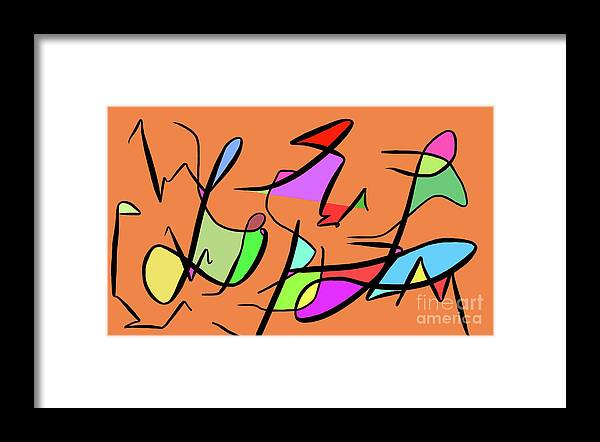 Abstract Art Color Imagination Simple Creative Framed Print featuring the digital art Illusion by Derek Squared