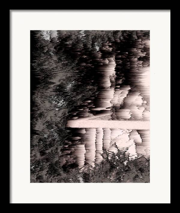 Abstract Framed Print featuring the digital art Illusion by Gerlinde Keating - Galleria GK Keating Associates Inc