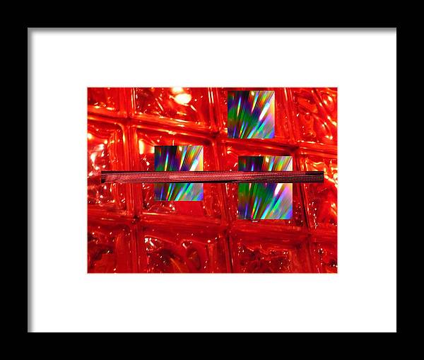 Abstrtact Framed Print featuring the digital art Illusions by Florene Welebny