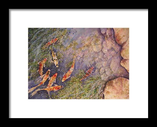 Koi Framed Print featuring the painting Illusions Of Depth by David Kelly