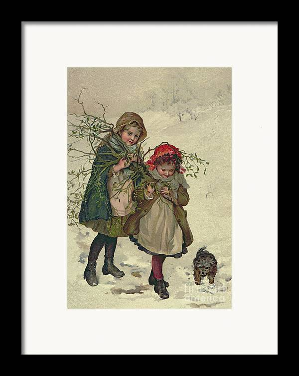 Illustration Framed Print featuring the painting Illustration From Christmas Tree Fairy by Lizzie Mack