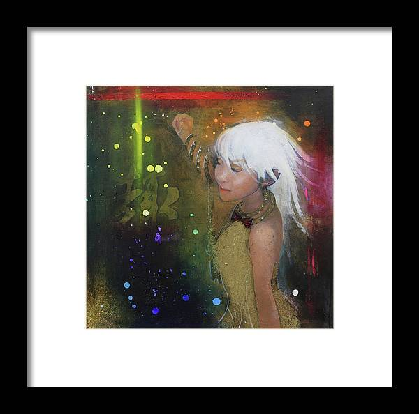 Girl Framed Print featuring the painting I'm Just A Passenger by Law Cheuk Yui