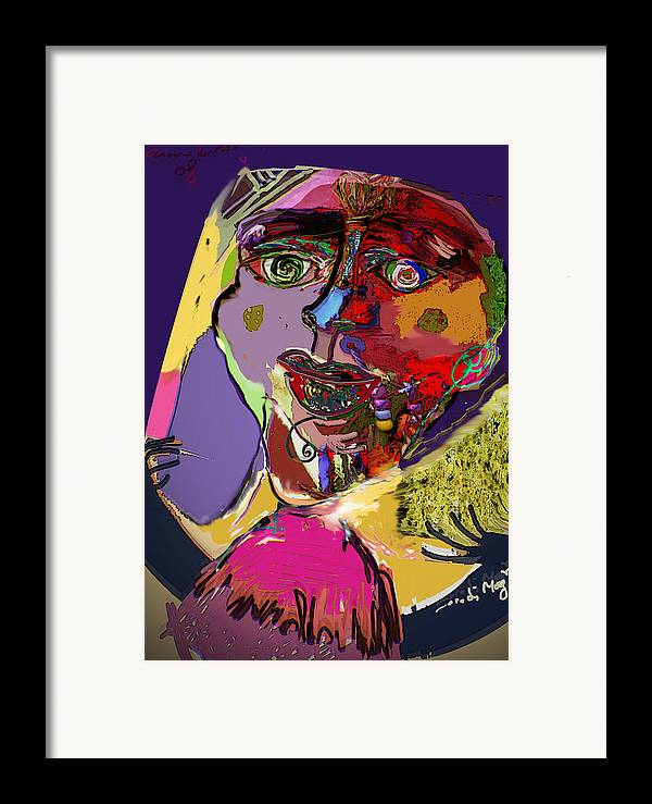 Mask Framed Print featuring the painting I'm Not What You Think I'm by Noredin Morgan
