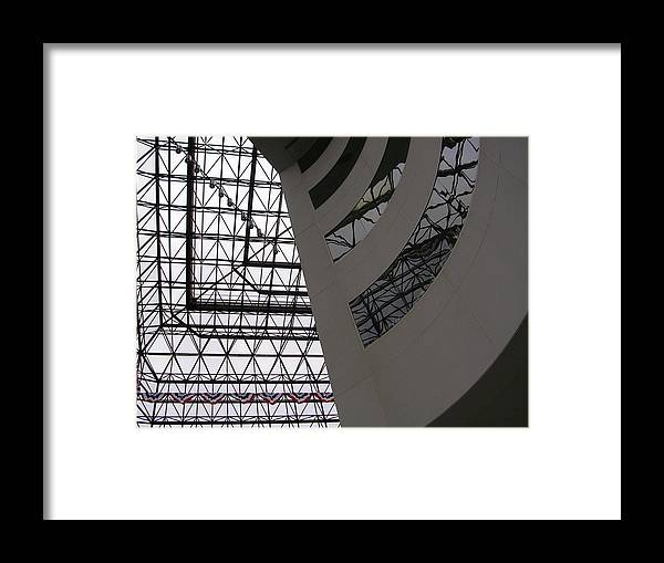 Architiecture Framed Print featuring the photograph I.m. Pei - Point Of View by Nancy Ferrier