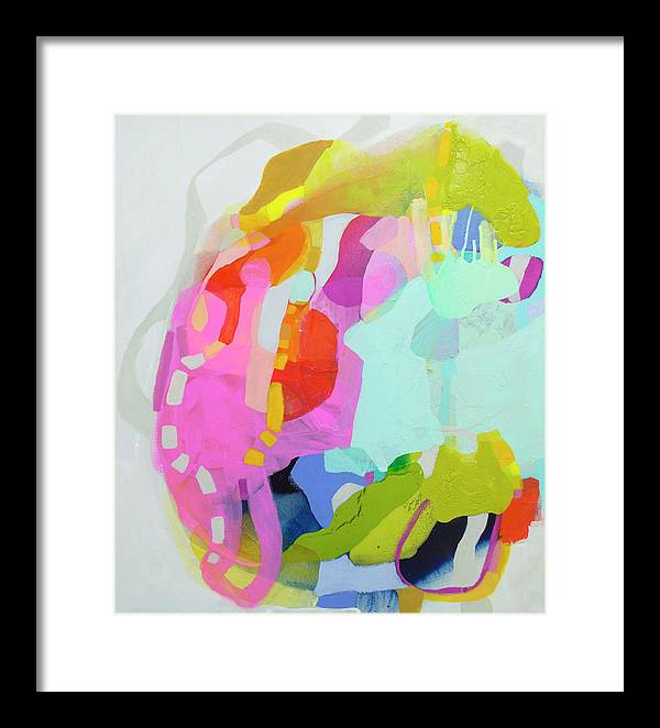 Abstract Framed Print featuring the painting I'm So Glad by Claire Desjardins