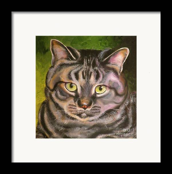 Cat Framed Print featuring the painting Im Your Man Tabby by Susan A Becker