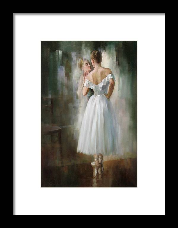 Figurative Framed Print featuring the painting Image by Kelvin Lei