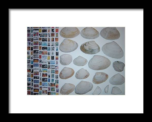 Framed Print featuring the painting Images and shells by Biagio Civale