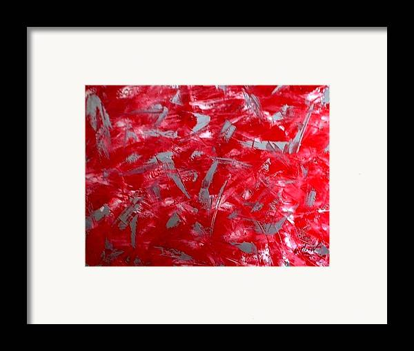 Abstract Framed Print featuring the painting Imaginary Art by Guillermo Mason