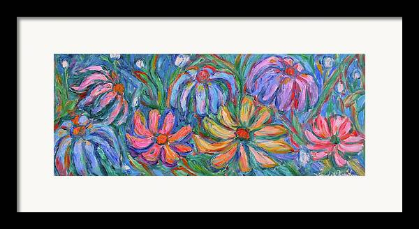 Flowers Framed Print featuring the painting Imaginary Flowers by Kendall Kessler