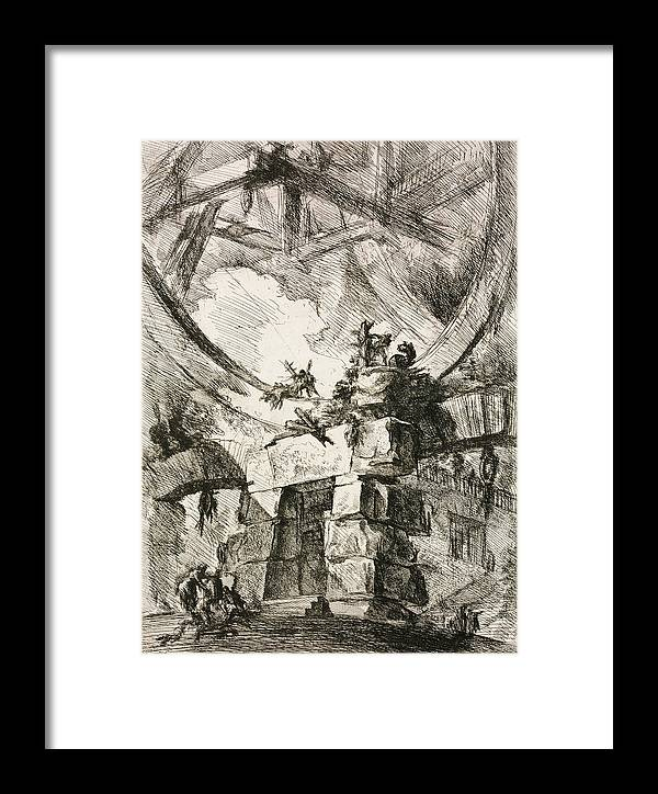 18th Century Art Framed Print featuring the relief Imaginary Prison by Giovanni Battista Piranesi