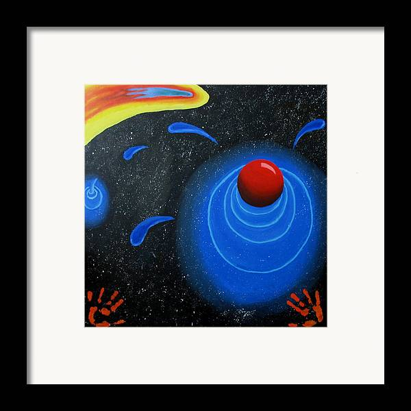 Sky Framed Print featuring the painting Imagination by Juli House