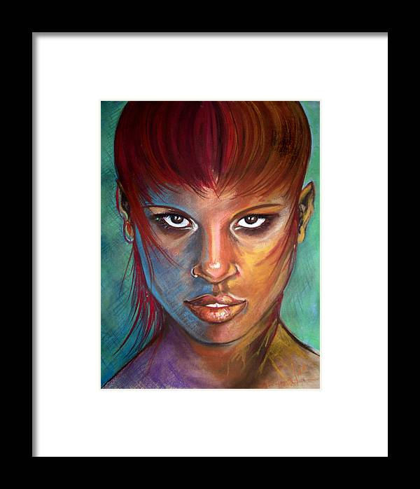Pastels Framed Print featuring the drawing Imaginatti by Yxia Olivares
